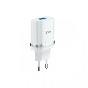 Зарядний пристрiй USB Hoco C12Q Smart QC3.0 white