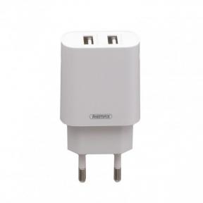 Зарядний пристрiй USB 220В Remax RP-U35 (2USB 2.1A) c Type-C white