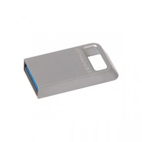 USB3.1 Flash Drive 128 Gb Kingston DTMicro USB 3.1/3.0 Type-A Metal Silver (