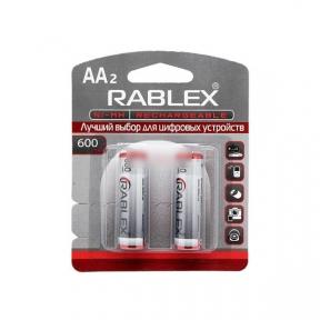 Акумулятор R6 Rablex 600mAh Ni-MH AA blister/2pcs