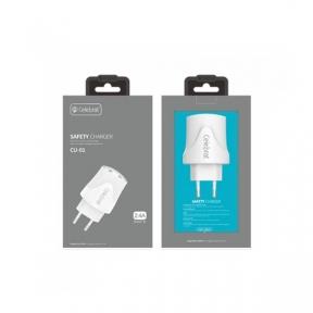 Зарядний пристрій USB 220В Celebrat CU01 c MicroUSB (2USB, 2