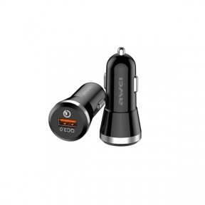 Автомобільний зарядний пристрій Awei C-825 QC3.0+PD black