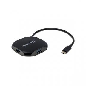 Хаб-юсб 3.1 Type-C Grand-X Travel 4 порти USB3.0 (GH-417)