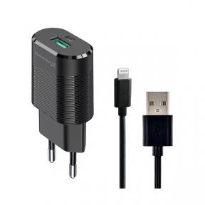 Зарядний пристрій USB 220В Grand-X CH-17BL 5V 2,1A із захистом