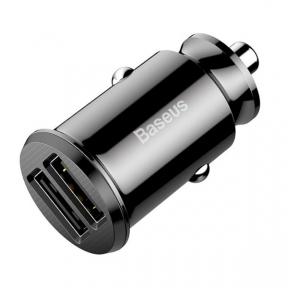 Автомобільний зарядний пристрій Baseus Grain Car Charger 3.1A Black