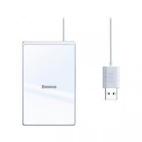 Бездротовий зарядний пристрій Baseus Card Ultra-thin  Silver+White