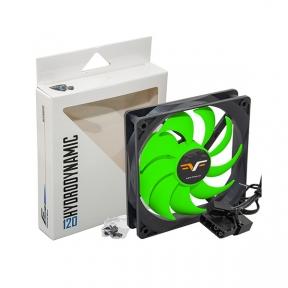 Вентилятор 120 mm Frime FGF120HB3, 3Pin+Molex 1300rpm HB Bearing Black