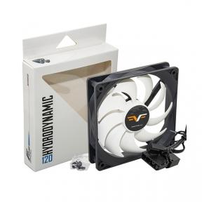 Вентилятор 120 mm Frime FWF120HB3 HB Bearing Black/White, 3Pin+Molex 1300rpm
