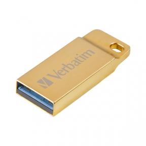 USB3.0 Flash Drive 64 Gb Verbatim Metal Executive Gold 99106