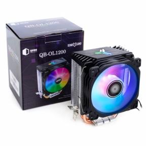 Вентилятор CPU універсал Qube QB-OL1200 теплові трубки, 1x92 мм