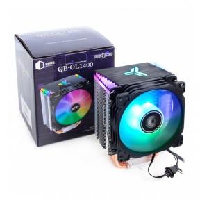 Вентилятор CPU універсал Qube QB-OL1400 теплові трубки, 1x92 мм