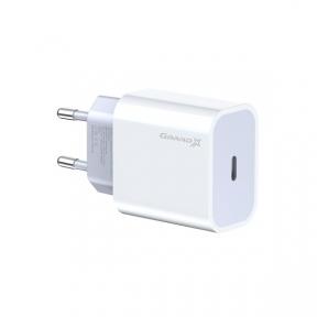 Зарядний пристрій USB 220В Grand-X (CH-770) USB-C 20W PD3.0 швидка зарядка для Apple iPhone и Android QC4