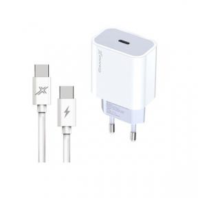 Зарядний пристрій USB 220В Grand-X (CH-770C) USB-C 20W PD3.0 швидка зарядка для QC4