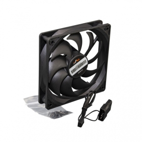 Вентилятор 120 mm Frime Bearing Black, 3pin+Molex 1300rpm, підшипник (
