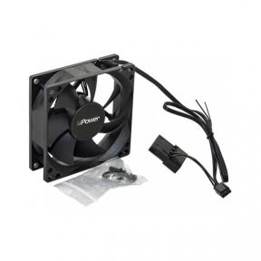 Вентилятор 80 mm UPower HB Bearing Black, 3pin+Molex 1600rpm (