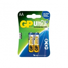 Батарейка LR6 лужна GP Ultra Plus, 15AUP, AA, шрінк 2шт