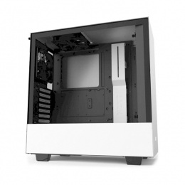 Корпус для ПК NZXT, H510 Compact Mid Tower White/Black Chassis