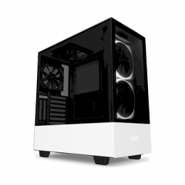 Корпус для ПК NZXT, H510 Elite Compact Mid Tower Matte White Chassis