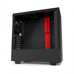 Корпус для ПК NZXT, H510i Compact Mid Tower Black/Red Chassis