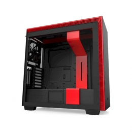 Корпус для ПК NZXT, H710i Mid Tower Black/Red Chassis with Smart